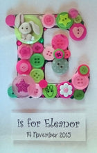 Personalised Button Frame - Large Letter