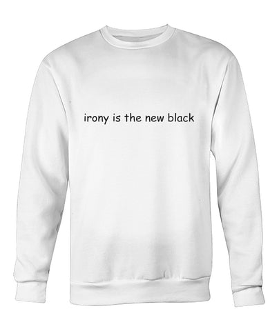 Irony is the new black - Comic Sans - White Long Sleeve Shirt