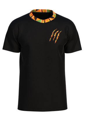 Adu Kente Mock Neck Tee