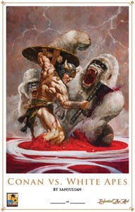 Print - Conan vs. White Apes - BY SANJULIAN