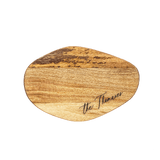 Small Organic Shaped Cutting Board - Offset Calligraphy Custom Engraving