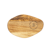 Small Organic Shaped Cutting Board - Modern Round Monogram Custom Engraving