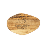 Small Organic Shaped Cutting Board - Knockout Monogram Custom Engraving