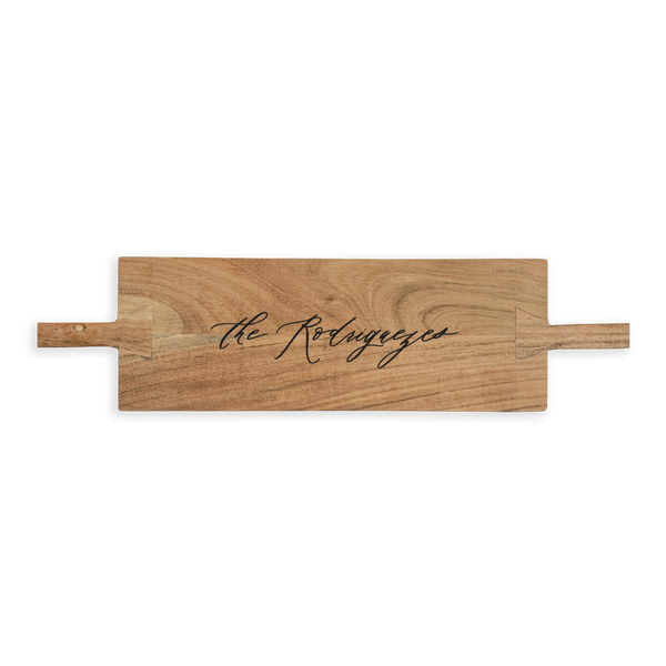 Plateau Serving Board - Large Romantic Calligraphy Custom Engraving