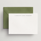 Custom Personal Stationery - Flat Card/Envelope Set - Ithaca Collection