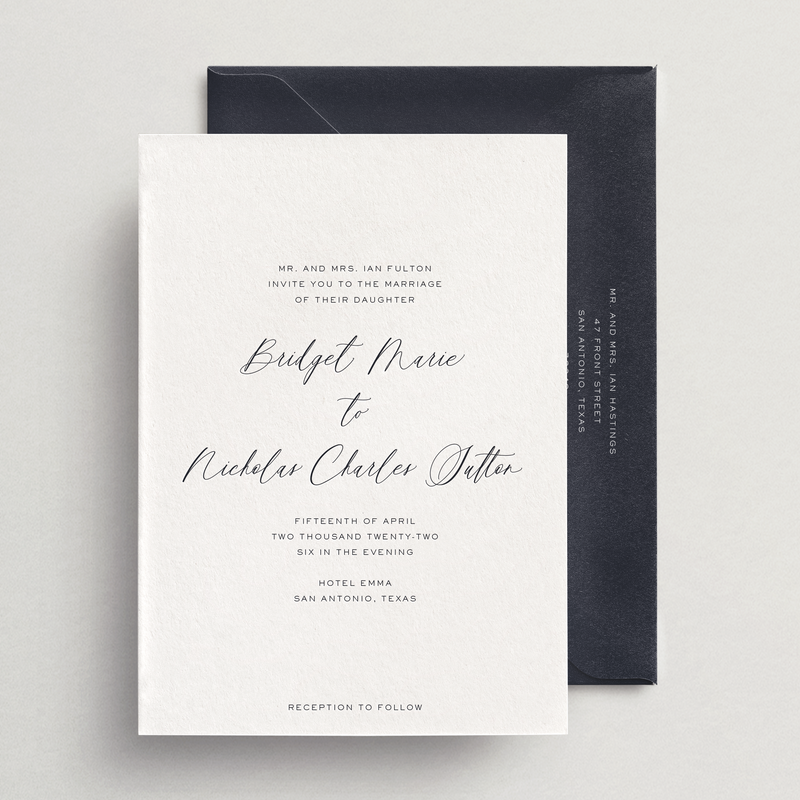 Invitation Card/Envelope - Siena Collection