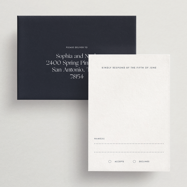 Response Card/Envelope (Basic) - Capri Collection