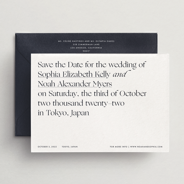 Save-the-Date Card/Envelope - Capri Collection