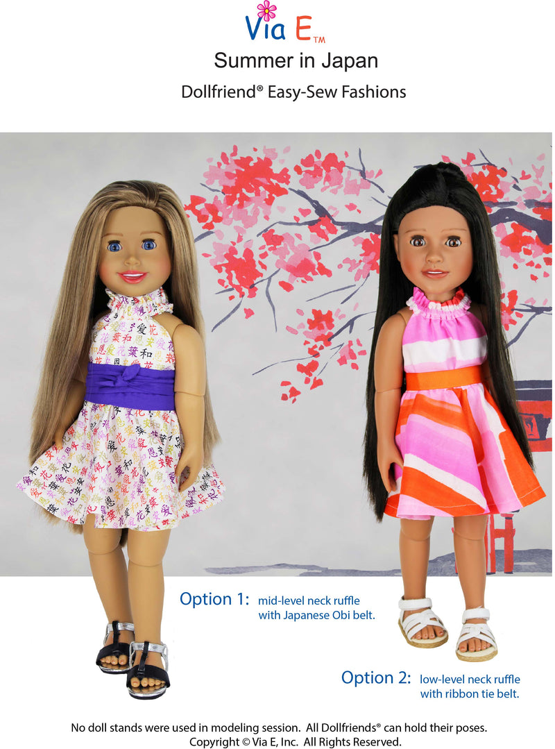 NEW!  Summer in Japan Easy Sew Pattern