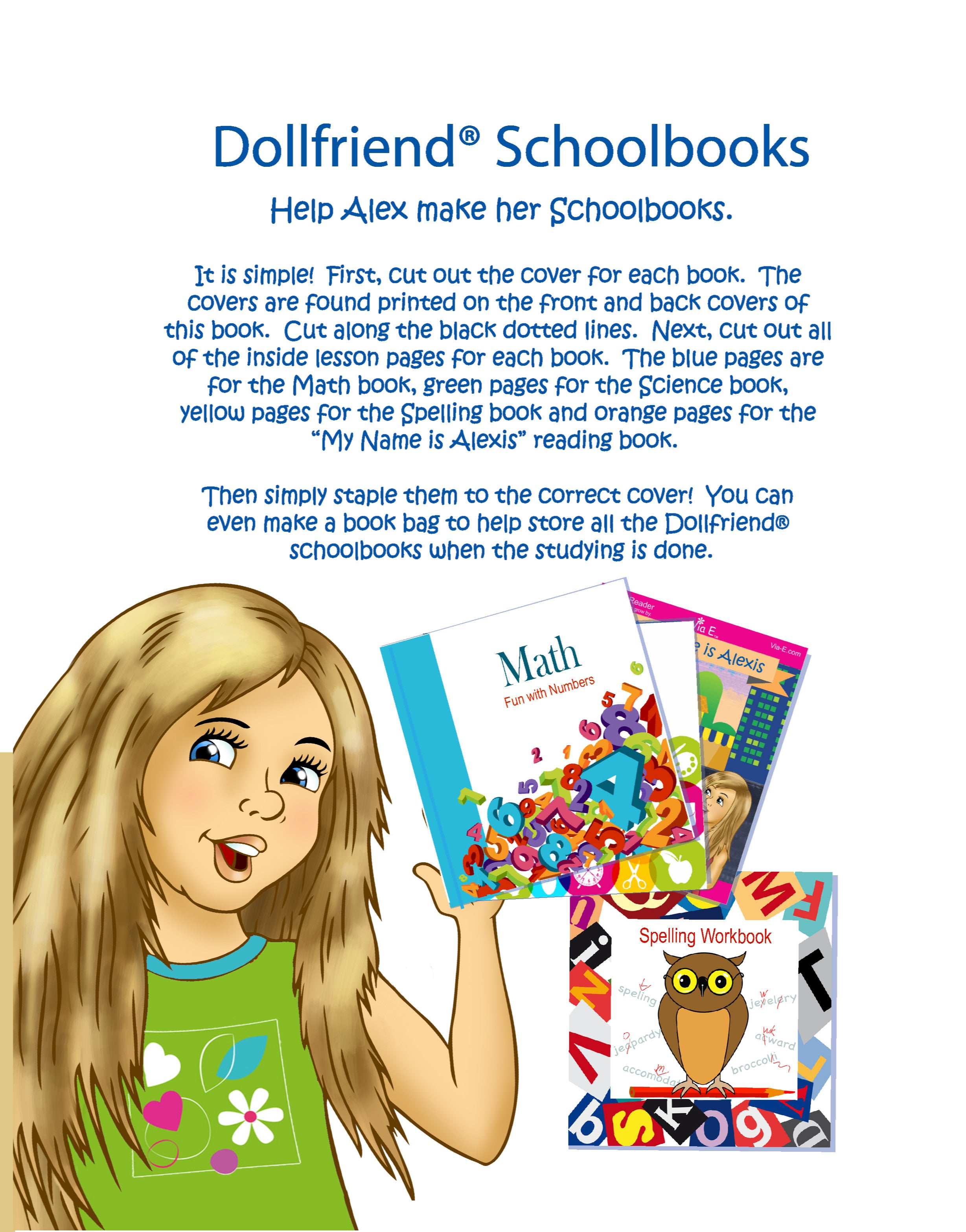 My Schoolbooks - Accessory Activity for Girls and Dollfriends(R)