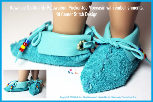 Kewanee's Pucker-toe Moccasin Pattern Donation