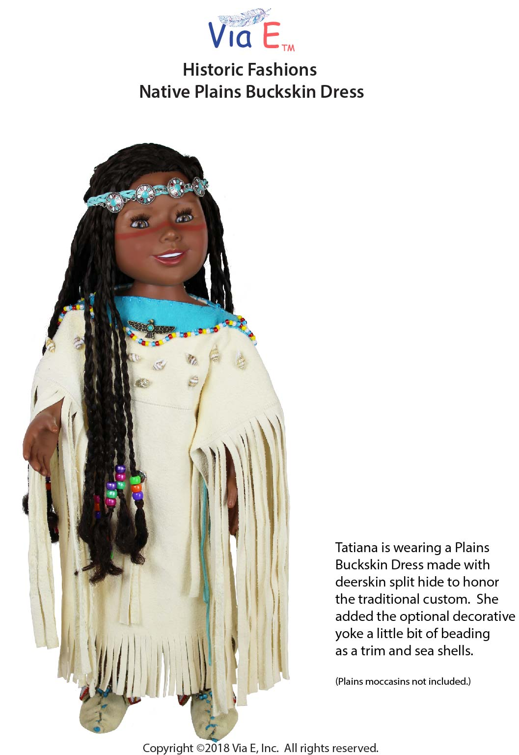 Native Plains Buckskin Dress Historic Fashion PDF Sewing Pattern