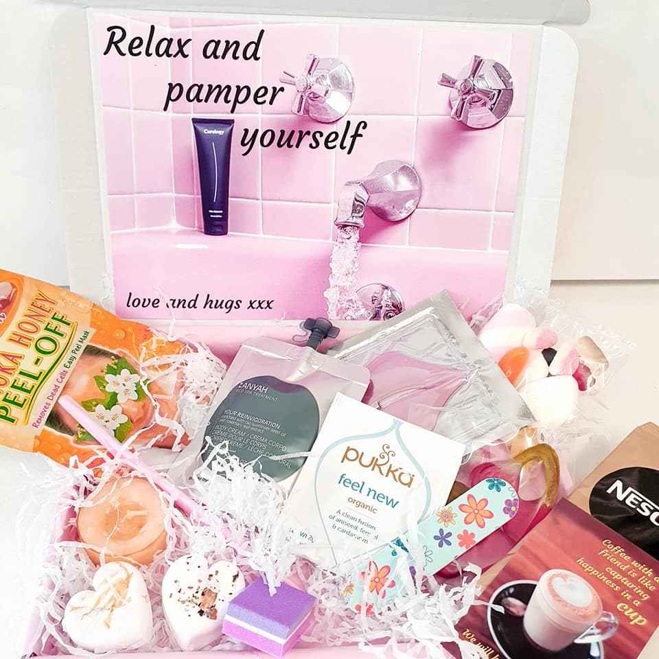 Pamper letterbox gift - hug in a box -  postage is included in the price, nothing to pay at check out.