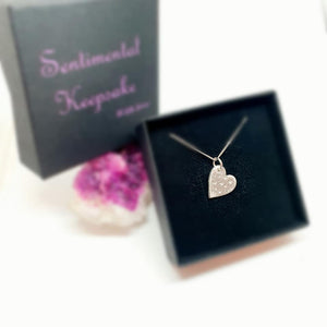 heart full of love - fine silver ashes necklace
