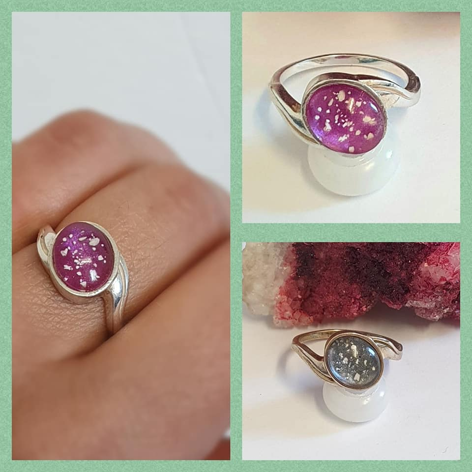 cremation ashes ring