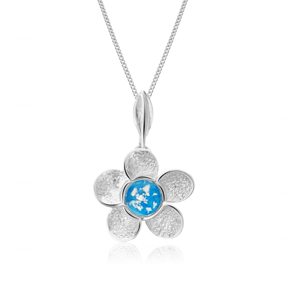 forget me not ashes pendant
