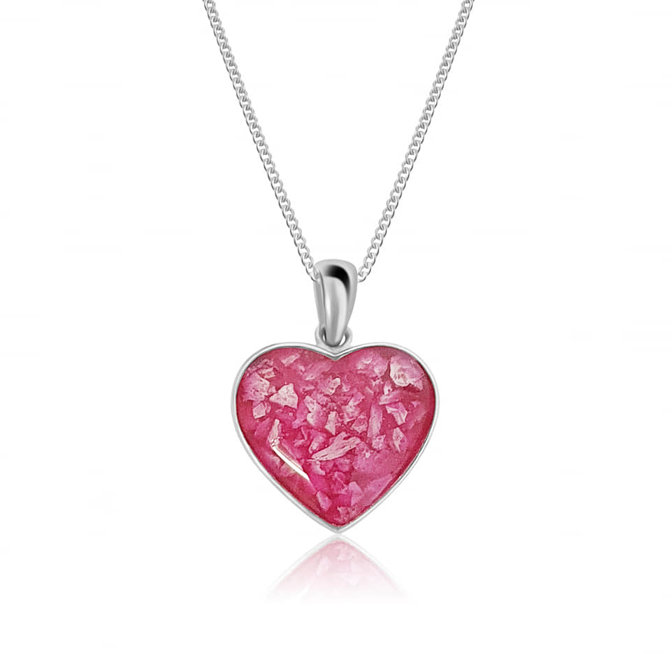 cremation ashes jewellery memorial jewellery pendant heart