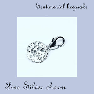 fine silver cremation jewellery
