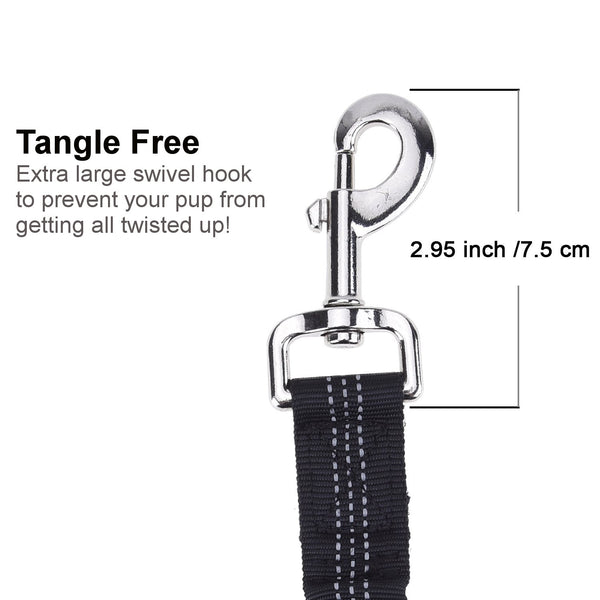 Pawfessor Dion's Dog Vehicle Seat Belt Bungee Harness Car Leash