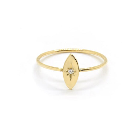 Kirstin Ash - Baguette Ring with White Topaz