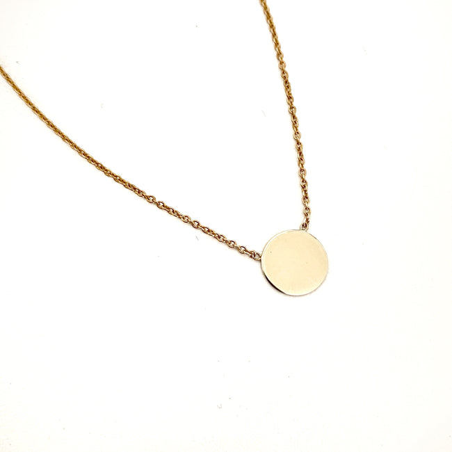 Disc Necklace - 9ct Gold