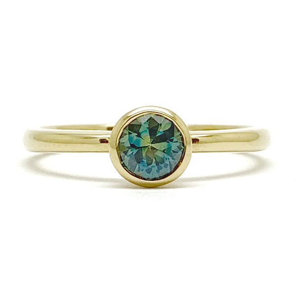 Second Empire Calanthe Ring - Teal Australian Sapphire