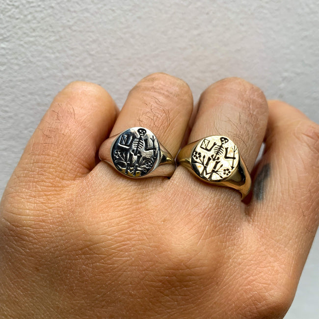 Digby and Iona - Memento Mori Signet Ring