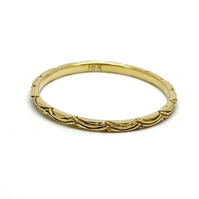 Digby and Iona - Petite Wave Ring - 18ct Yellow Gold