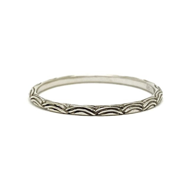 Digby and Iona - Petite Wave Ring - 18ct White Gold