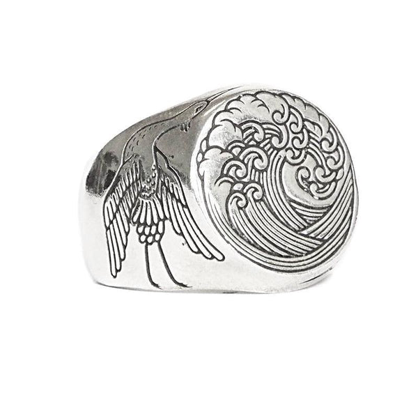 Digby and Iona - The Great Wave Signet Ring