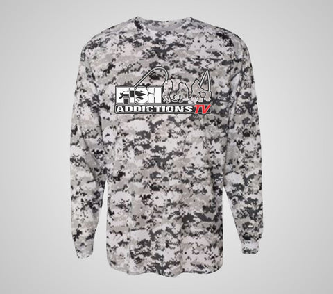 "Fish Addictions ""Digital Camo"" Long Sleeve Gear"