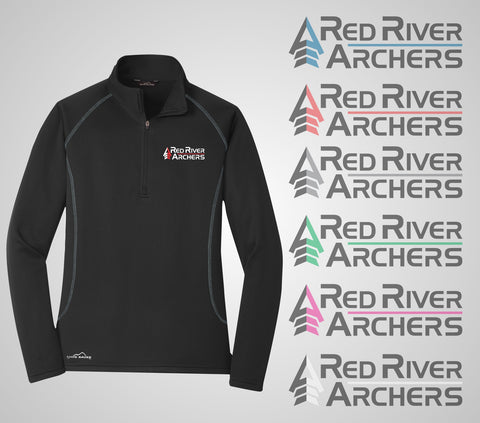 "Red River Archers ""Base Layer"" Eddie Bauer Ladies Quarter Zip"