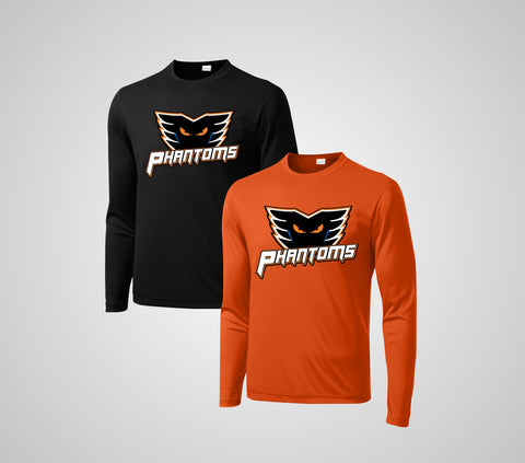 "Phantom Hockey ""Team"" Perfromance Long Sleeve- Youth/Adult"