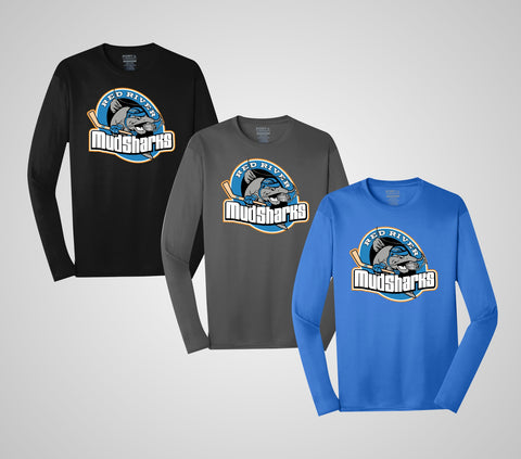 "Red River MudSharks ""Team"" Long Sleeve Performance - Youth/Adults"