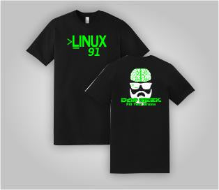 "Das Geek ""Linux 91"" Short Sleeve"