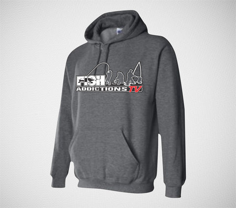 Fish Addictions Standard Charcoal Hoodie