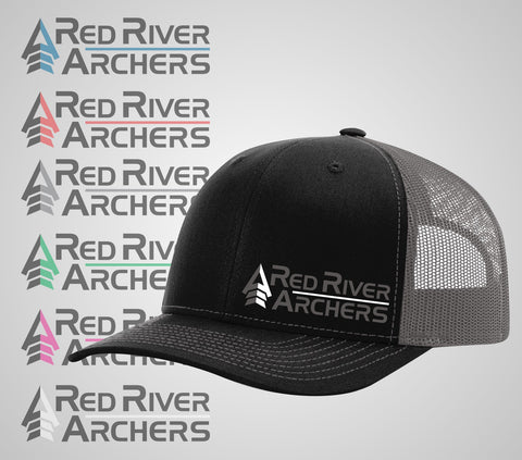 "Red River Archers ""Trucker Hat"" Black/Grey"