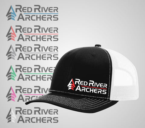 "Red River Archers ""Trucker Hat"" Black/White"
