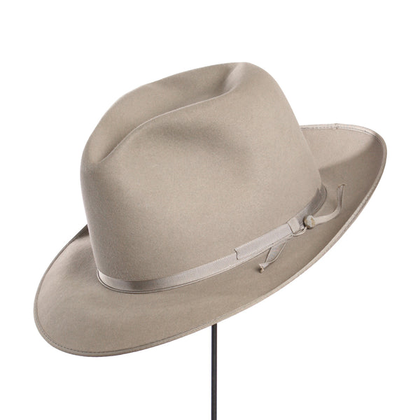 Mens 1930s 'Adam' Fedora • Vintage Thin Ribbon Hat in Gray - Return of the Living Threads