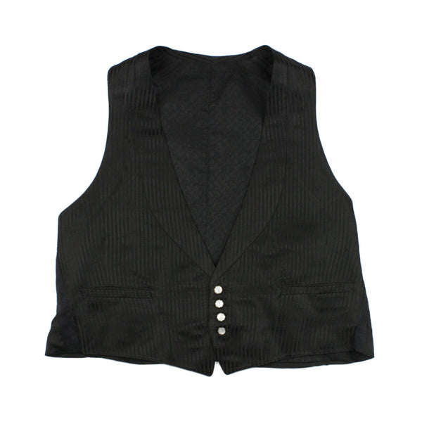 vintage dated 1920s mens vest • fine silk striped waistcoat