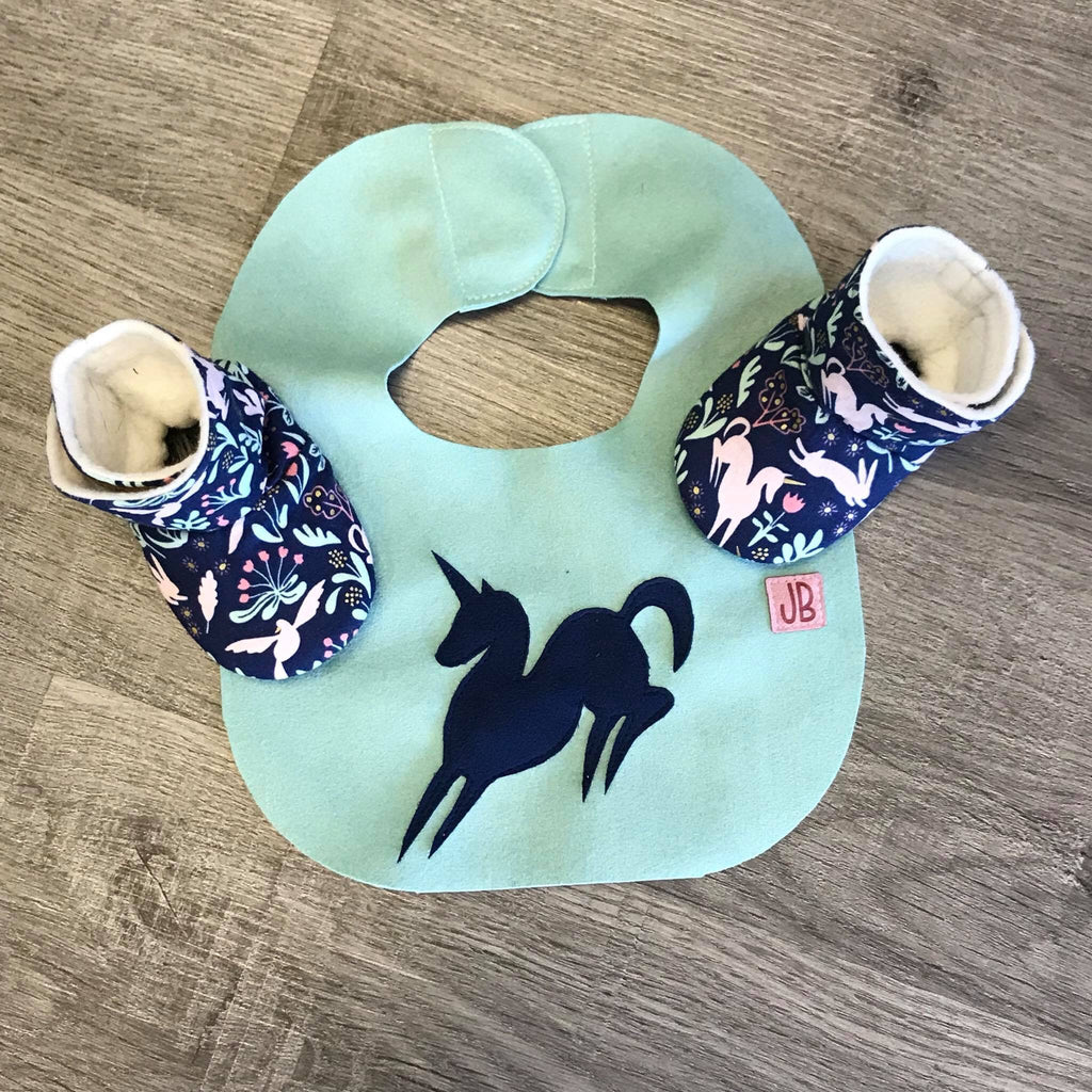 Custom applique bib