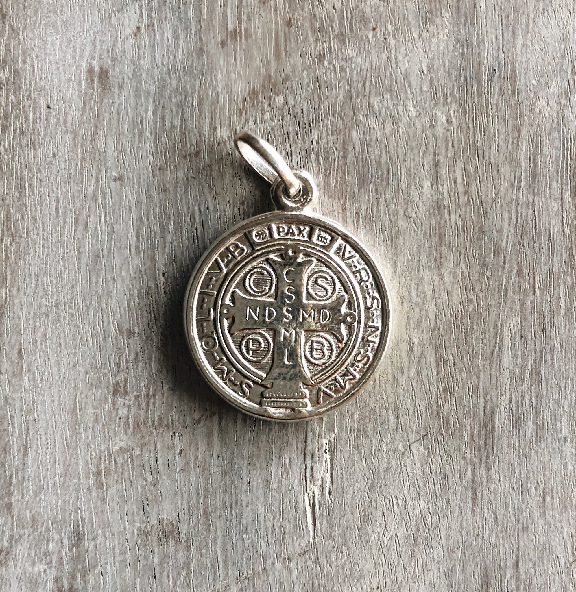 benito medallion benedict pin san first catholic gold necklace medal saint st christian religious communion vintage french gift jewelry plated
