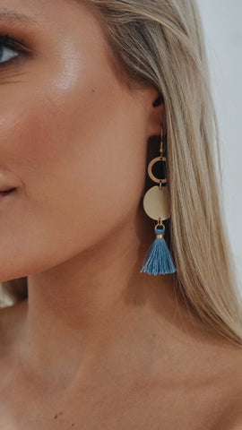 Blue is Best Tassel Earrings