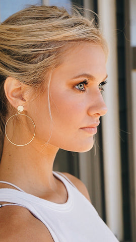 Always & Forever Gold Hoops