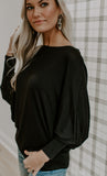 Lazy & in Love Top (Black)
