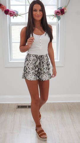 Into the Wild Snakeskin Shorts
