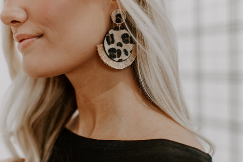 Leopard Obsessed Drop Earrings