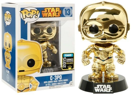 Metallic C3PO - 2015 Summer Convention EXCLUSIVE - Star Wars Funko Pop! Vinyl