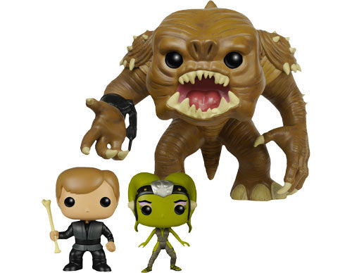 Rancor 3-Pack - Luke, Rancor & Slave Oola - PX Previews EXCLUSIVE - Funko Pop! Vinyl