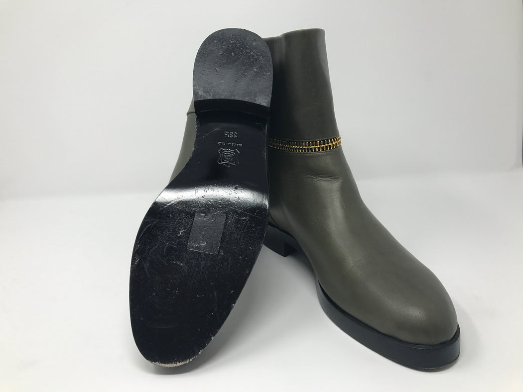 Pierre Hardy Army Green Leather Boots